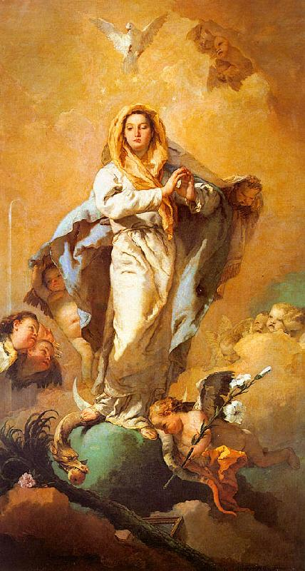 Giovanni Battista Tiepolo St.Thecla Liberating the City of Este from the Plague oil painting image
