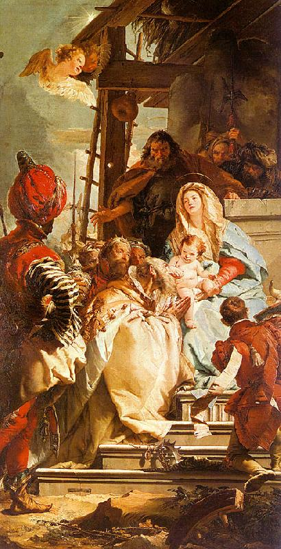 Giovanni Battista Tiepolo Mercury Appearing to Aeneas oil painting image