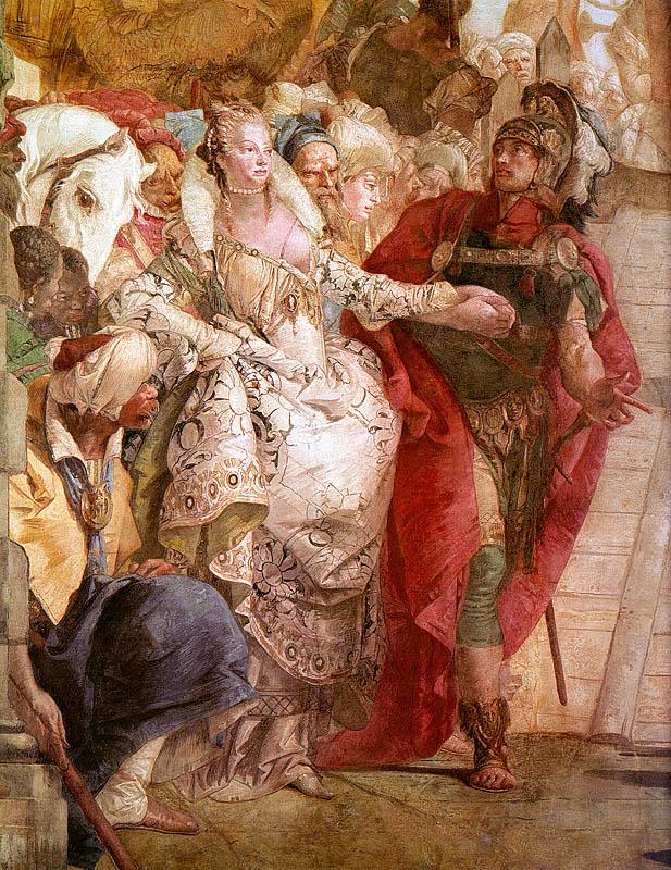 Giovanni Battista Tiepolo The Meeting of Anthony and Cleopatra oil painting image