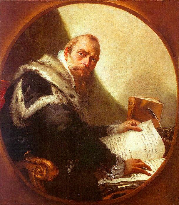 Giovanni Battista Tiepolo Portrait of Antonio Riccobono oil painting image