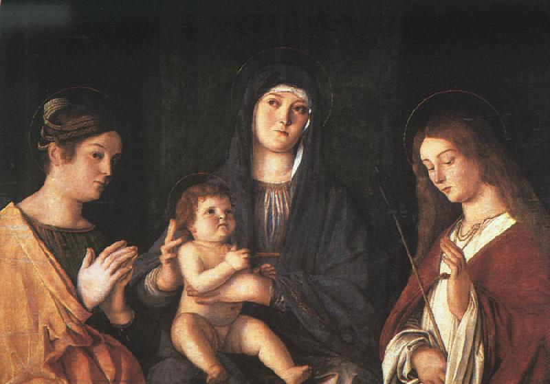 Giovanni Bellini The Virgin and the Child with Two Saints oil painting image