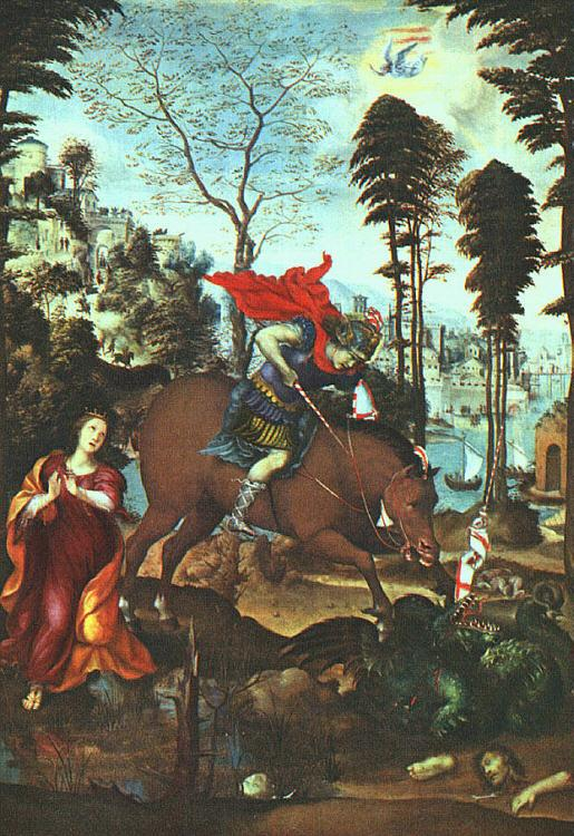 Giovanni Sodoma St.George and the Dragon Sweden oil painting art