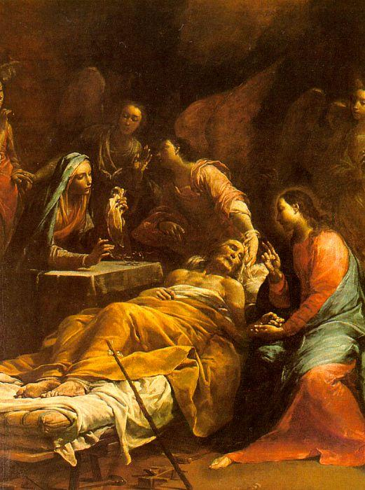 Giuseppe Maria Crespi The Death of St.Joseph oil painting image