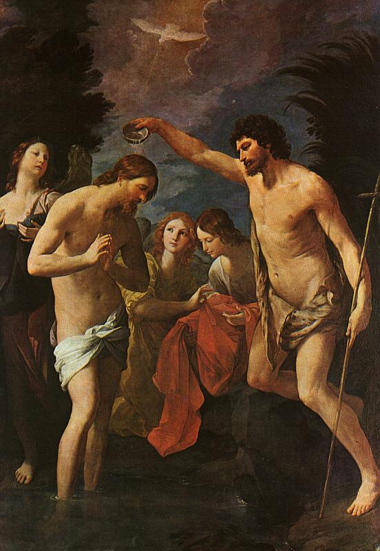 Guido Reni Baptism of Christ Sweden oil painting art