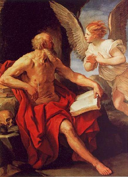 Guido Reni Saint Jerome and the Angel Sweden oil painting art