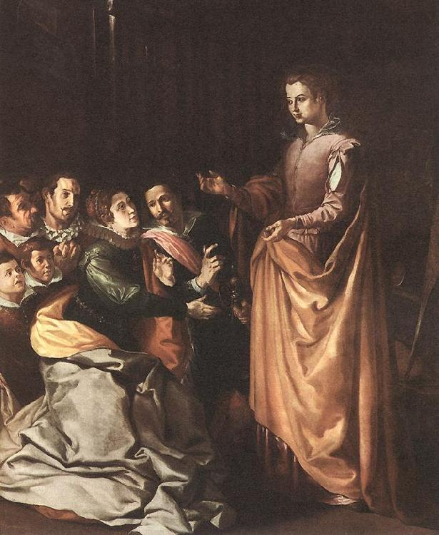 HERRERA, Francisco de, the Elder St Catherine Appearing to the Prisoners sf oil painting image