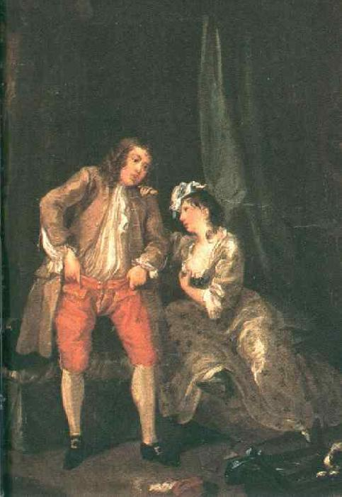HOGARTH, William Before the Seduction and After sf oil painting image