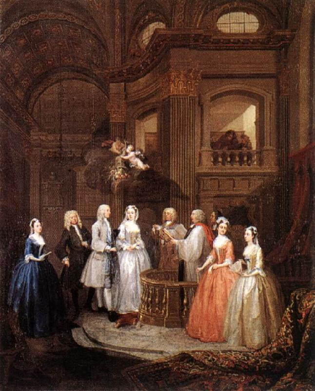 HOGARTH, William The Marriage of Stephen Beckingham and Mary Cox f oil painting image