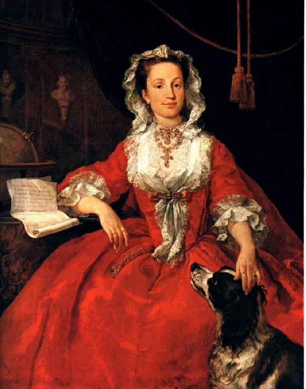 HOGARTH, William Portrait of Mary Edwards sf oil painting image