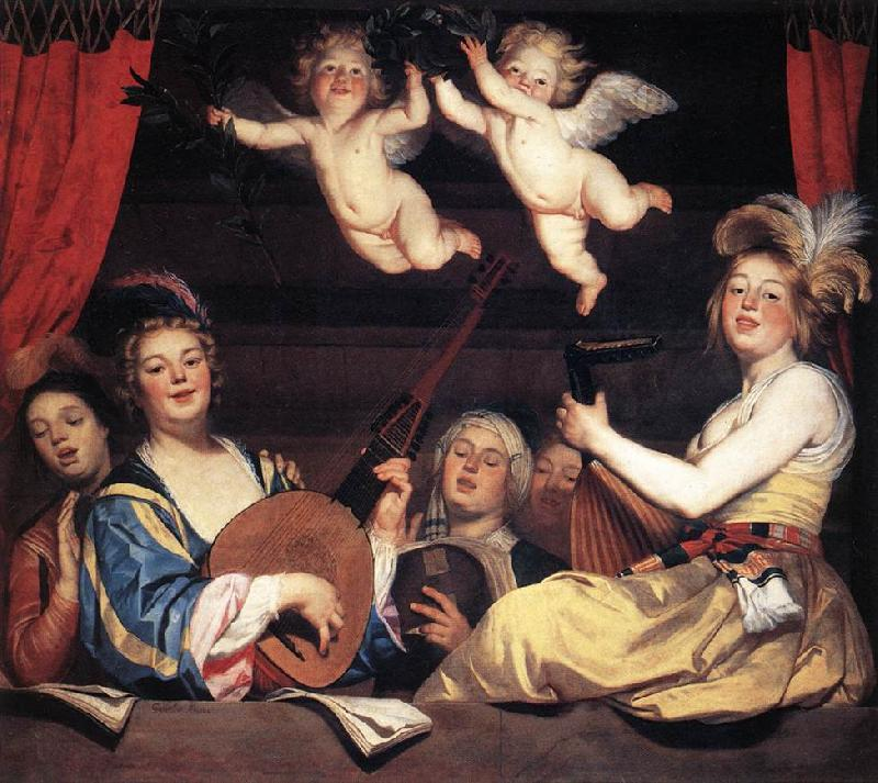 HONTHORST, Gerrit van Concert on a Balcony sg oil painting image