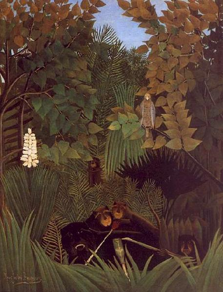 Henri Rousseau The Monkeys Sweden oil painting art