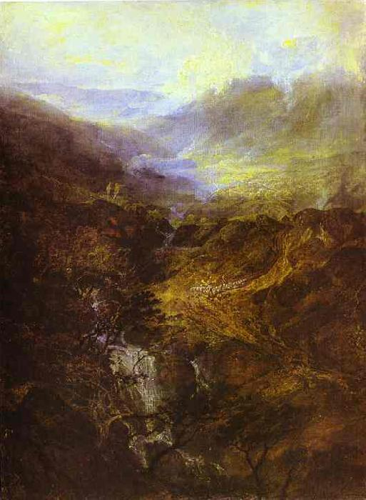 J.M.W. Turner Morning Amongst Coniston Fells, Cumberland oil painting image