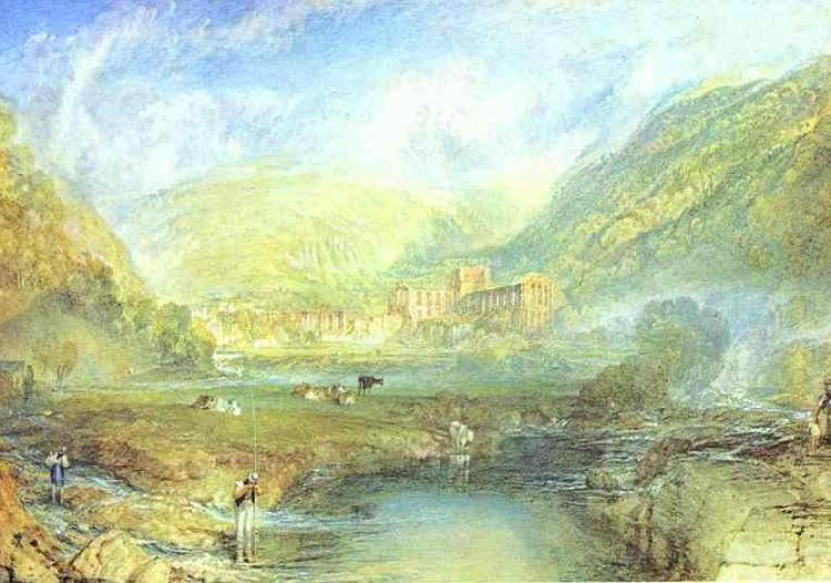 J.M.W. Turner Rivaulx Abbey, Yorkshire Sweden oil painting art