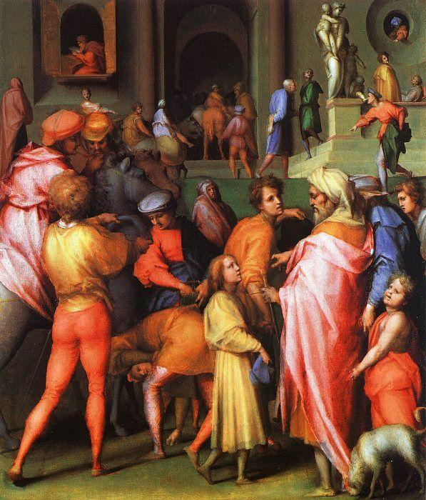 Jacopo Pontormo Joseph being Sold to Potiphar Sweden oil painting art