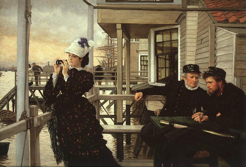 James Tissot The Captain's Daughter oil painting image