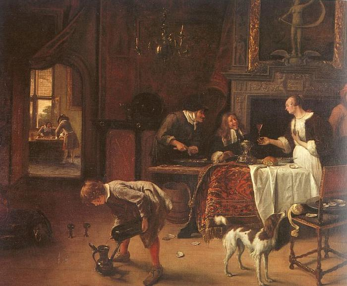 Jan Steen Easy Come, Easy Go Sweden oil painting art
