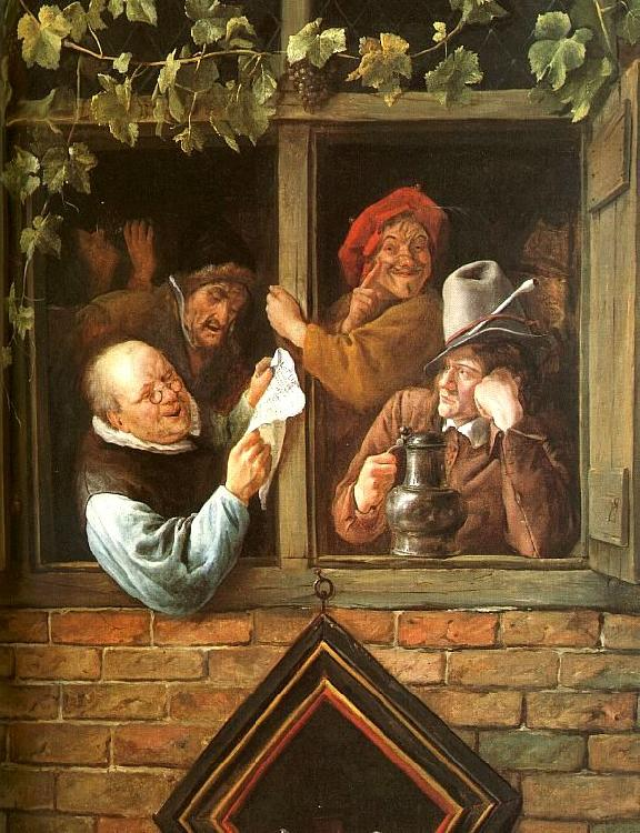 Jan Steen Rhetoricians at a Window Sweden oil painting art