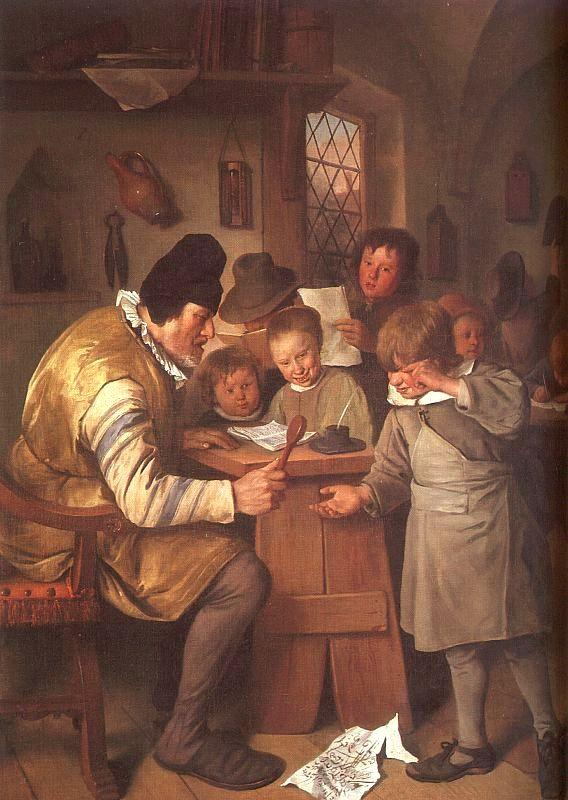 Jan Steen The Schoolmaster oil painting picture