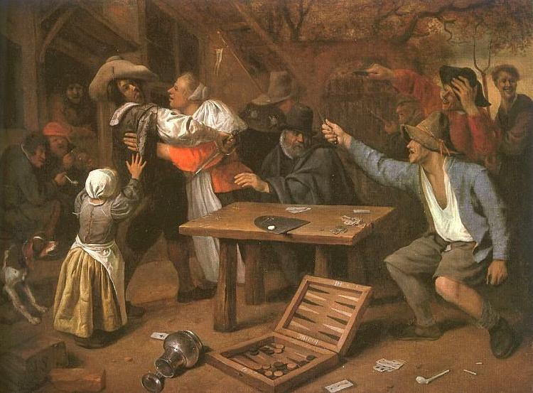 Jan Steen Card Players Quarreling Sweden oil painting art