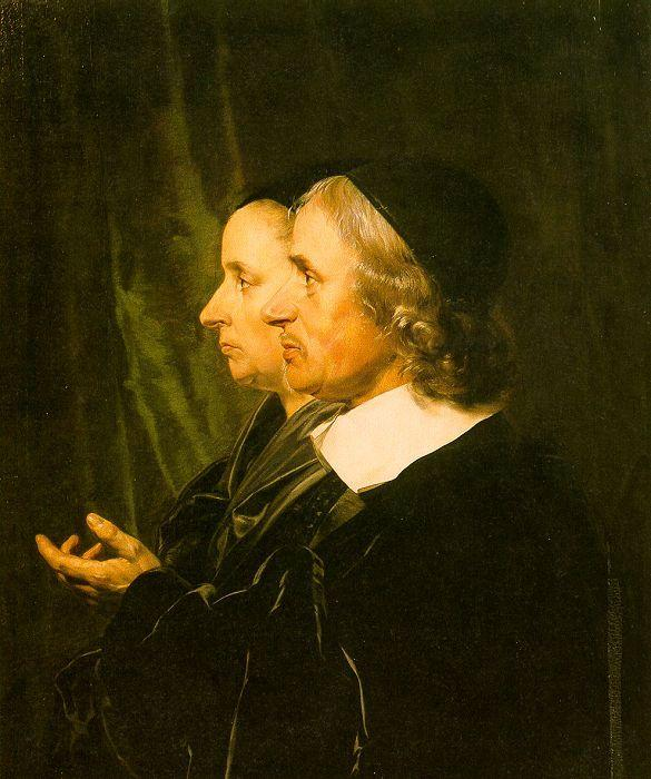 Jan de Bray Double Profile Portrait of the Artist's Parents oil painting image