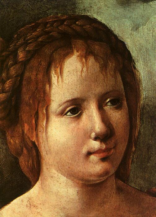 Jan van Scorel Head of a Young Girl Sweden oil painting art