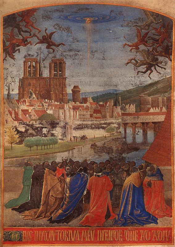 Jean Fouquet Descent of the Holy Ghost upon the Faithful oil painting image
