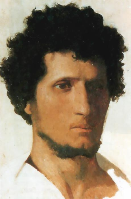 Jean Leon Gerome Head of a Peasant of the Roman Campagna oil painting image