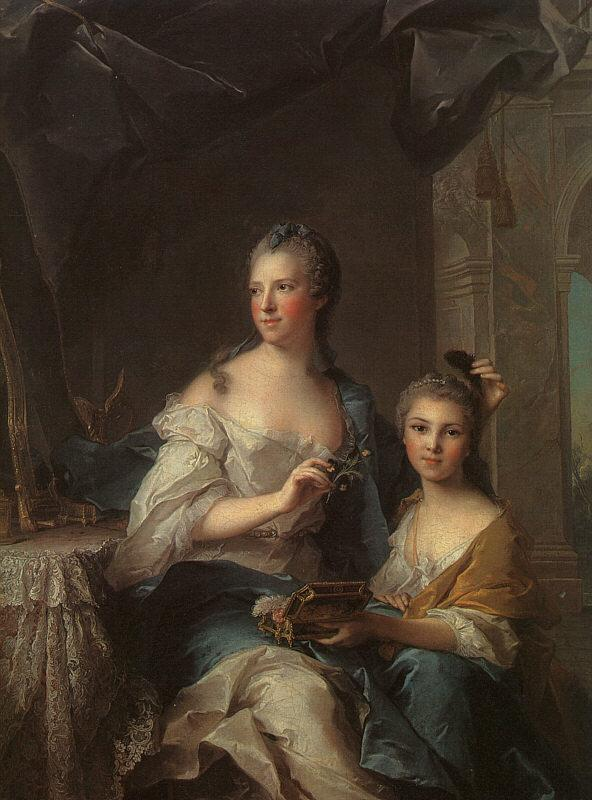 Jean Marc Nattier Madame Marsollier and her Daughter oil painting image