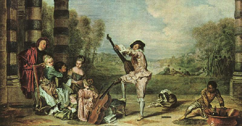 Jean-Antoine Watteau The Music Party Sweden oil painting art