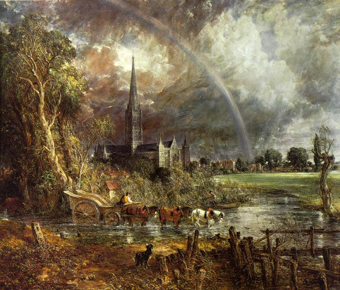 John Constable Salisbury Cathedral from the Meadows2 oil painting image