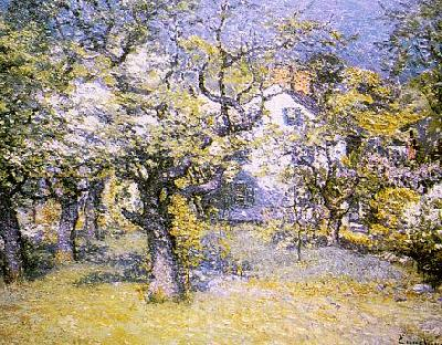 John J Enneking Through the Orchard Sweden oil painting art