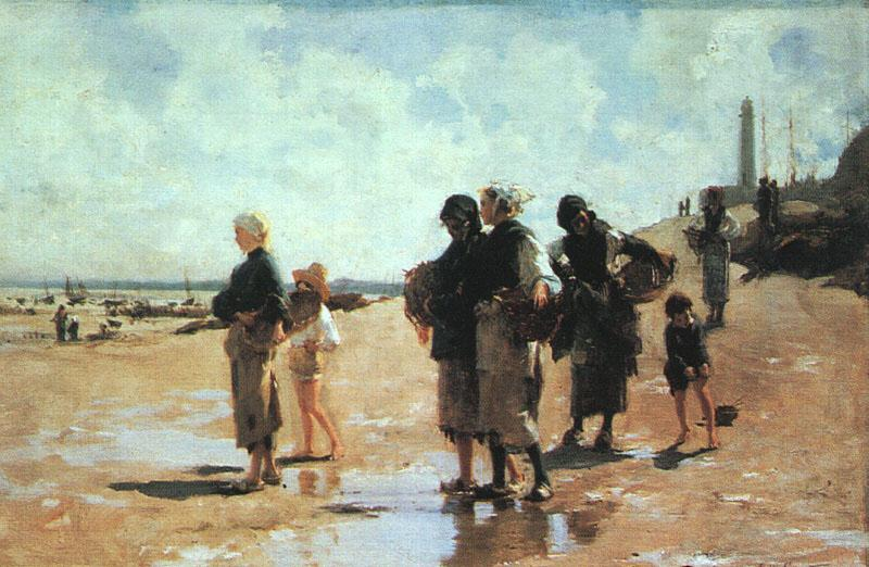 John Singer Sargent Oyster Gatherers of Cancale Sweden oil painting art