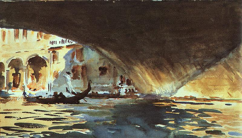 John Singer Sargent Under the Rialto Bridge oil painting image