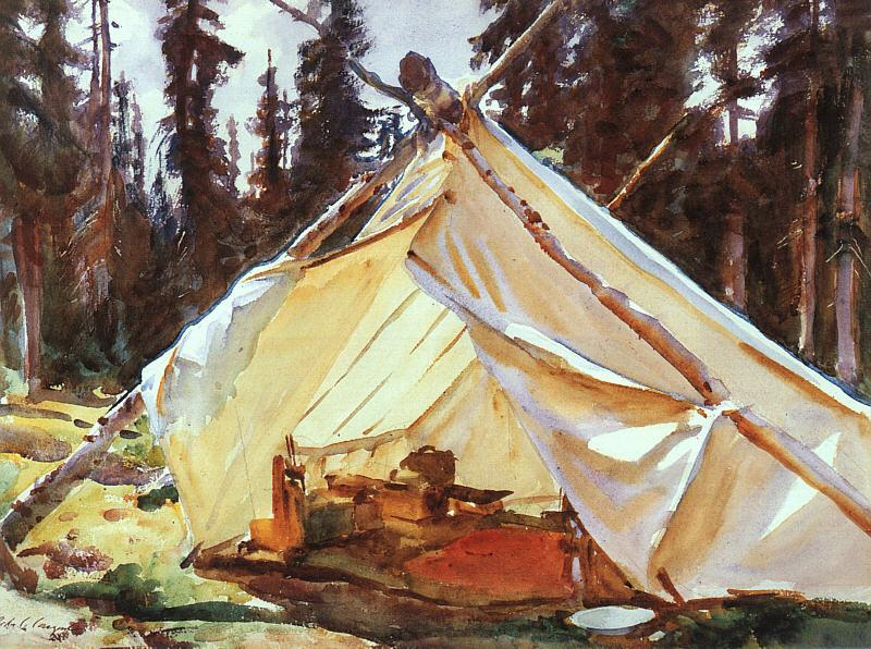 John Singer Sargent A Tent in the Rockies Sweden oil painting art