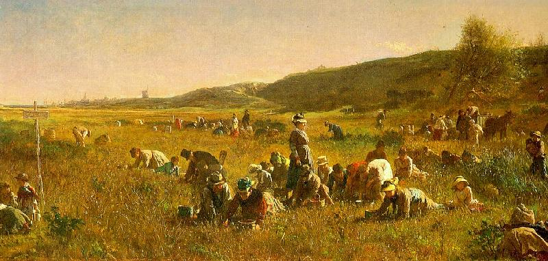 Jonathan Eastman Johnson The Cranberry Harvest on the Island of Nantucket Sweden oil painting art