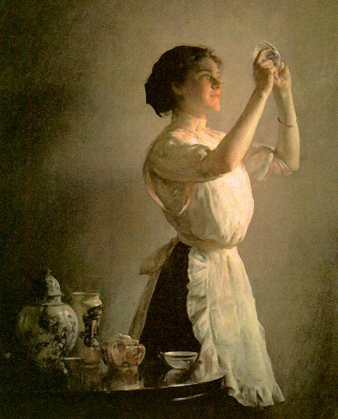 Joseph Decamp The Blue Cup Sweden oil painting art