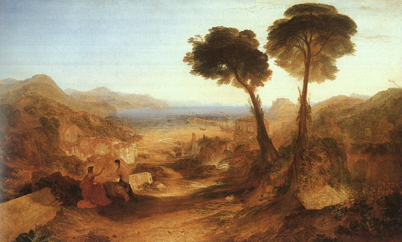 Joseph Mallord William Turner The Bay of Baiaae with Apollo and the Sibyl oil painting image
