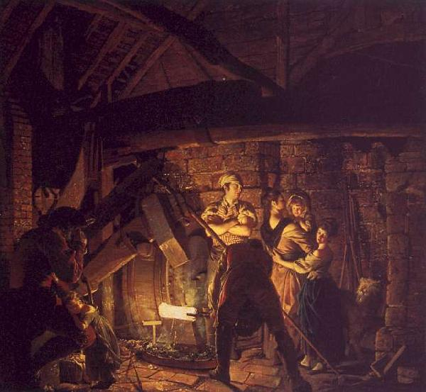 Joseph Wright The Forge oil painting image