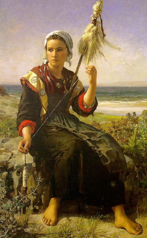 Jules Breton Brittany Girl oil painting image
