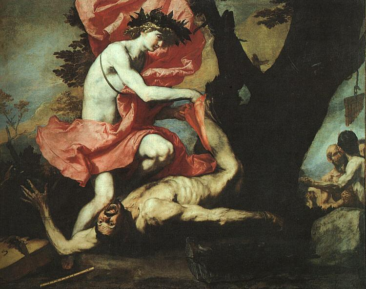 Jusepe de Ribera The Flaying of Marsyas Sweden oil painting art