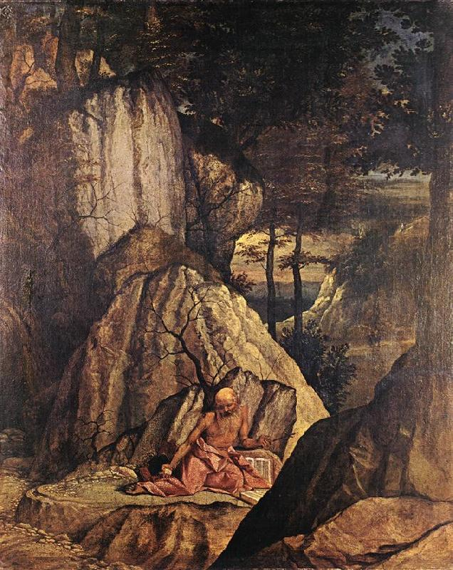 LOTTO, Lorenzo Penitent St Jerome sg oil painting image