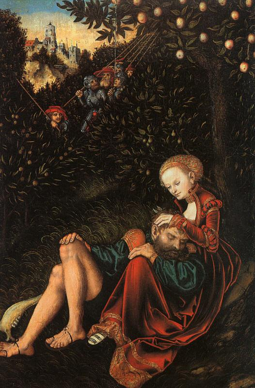 Lucas  Cranach Samson and Delilah oil painting image