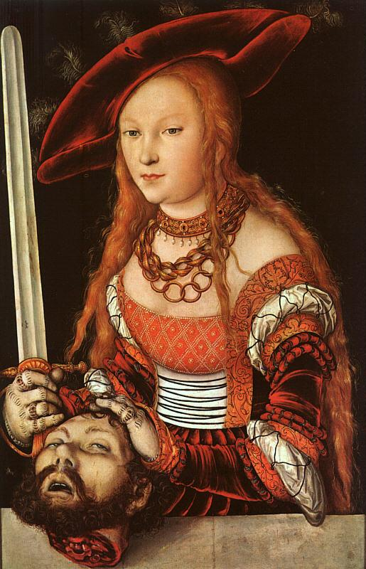 Lucas  Cranach Judith with the Head of Holofernes oil painting image