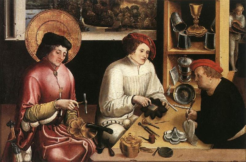 MANUEL, Niklaus St Eligius in the Workshop  sg oil painting image