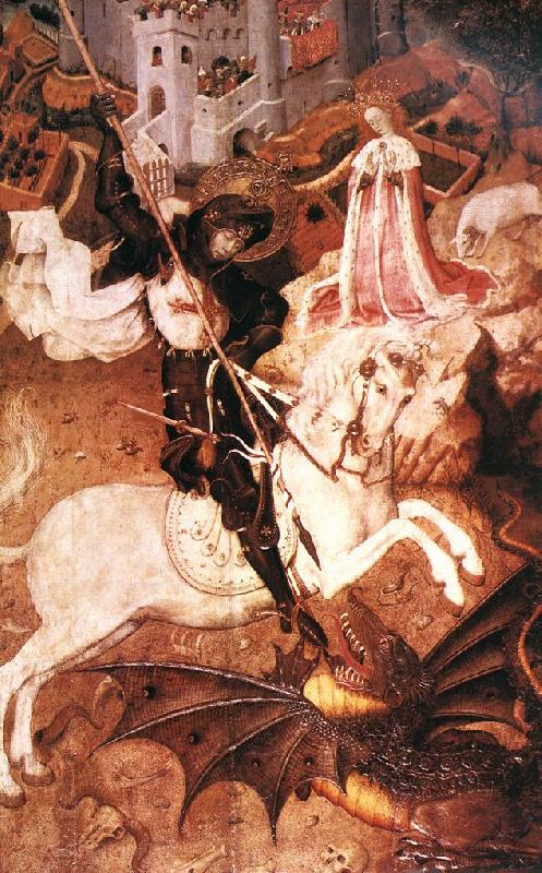 MARTORELL, Bernat (Bernardo) Saint George Killing the Dragon oil painting image