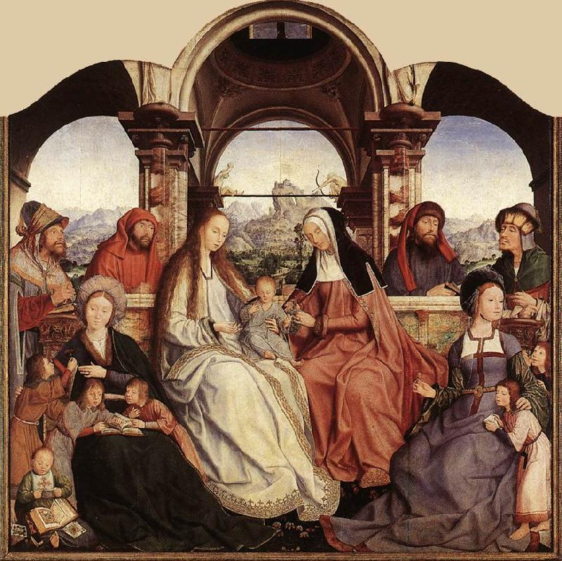 MASSYS, Quentin St Anne Altarpiece (central panel)  g oil painting image