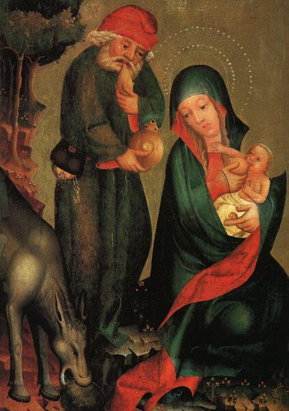 MASTER Bertram Rest on the Flight to Egypt, panel from Grabow Altarpiece g oil painting image