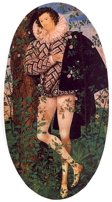 Nicholas Hilliard Young Man Leaning Against a Tree oil painting image