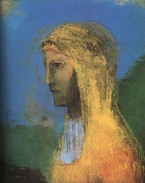 Odilon Redon The Druidess Sweden oil painting art