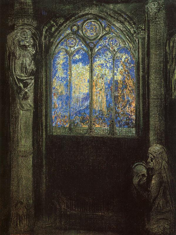 Odilon Redon Stained Glass Window oil painting image